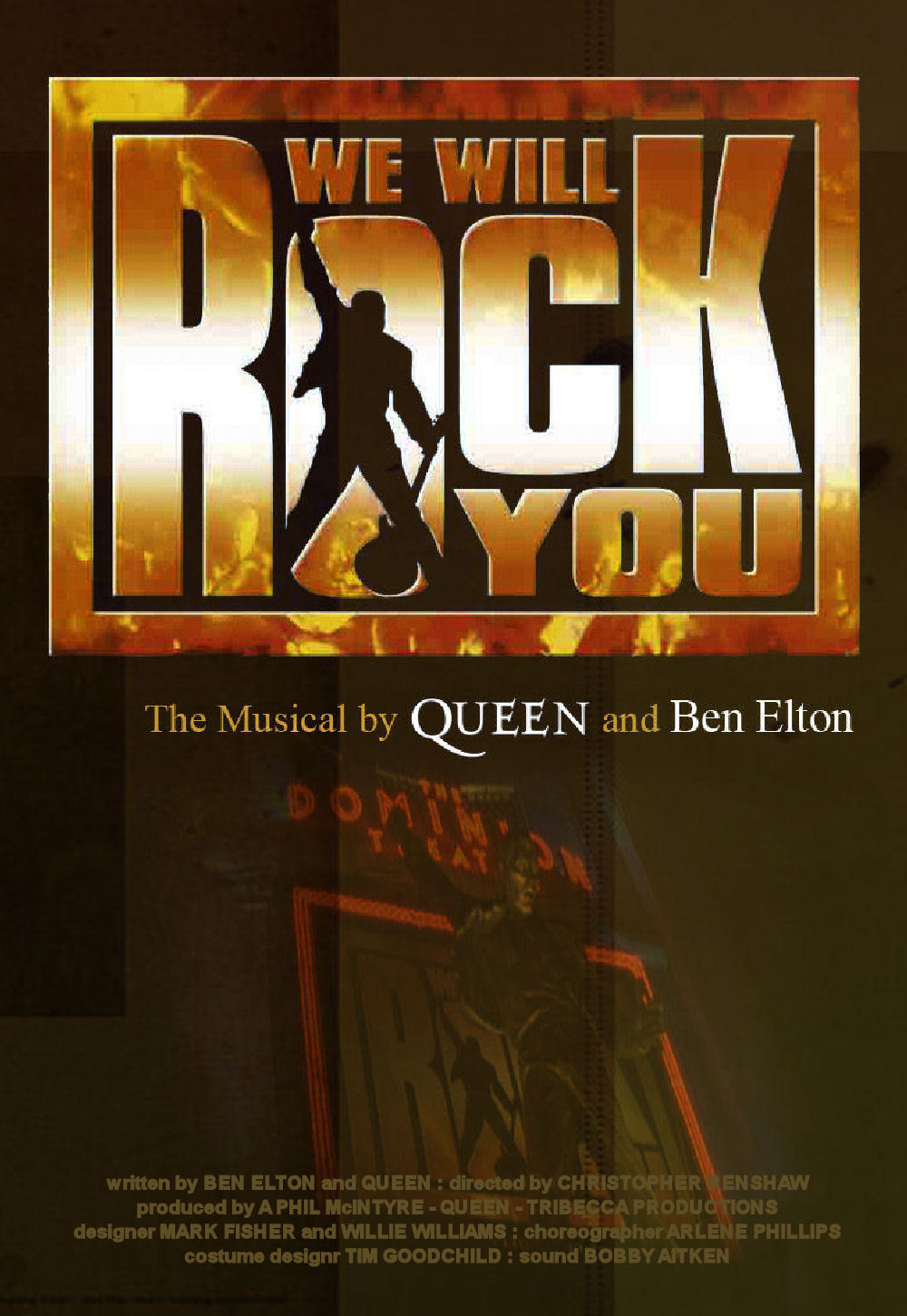 "Plakat von ""We Will Rock You - The Musical"""
